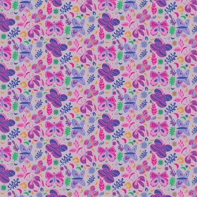 DiaNoche Designs Artist | Yasmin Dadabhoy - Butterflies Grey Pink