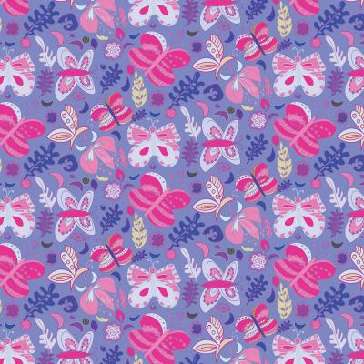 DiaNoche Designs Artist | Yasmin Dadabhoy - Butterflies Pink Purple