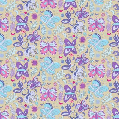 DiaNoche Designs Artist | Yasmin Dadabhoy - Butterflies Purple Blue