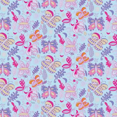 DiaNoche Designs Artist | Yasmin Dadabhoy - Butterflies Purple Pink