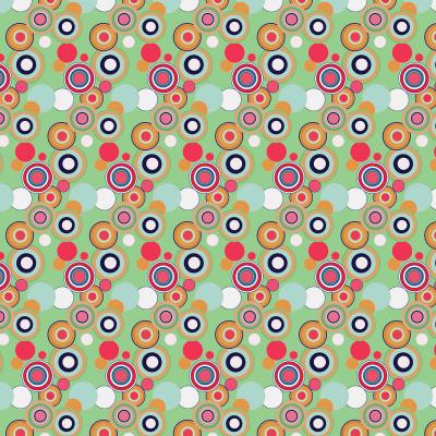 DiaNoche Designs Artist   Yasmin Dadabhoy - Circles Green Yellow