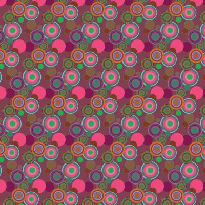 DiaNoche Designs Artist   Yasmin Dadabhoy - Circles Pink Olive