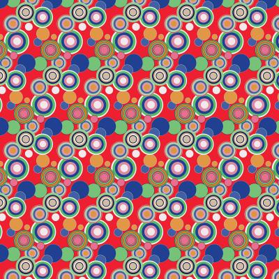 DiaNoche Designs Artist   Yasmin Dadabhoy - Circles Red Blue