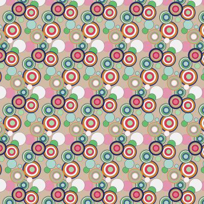 DiaNoche Designs Artist   Yasmin Dadabhoy - Circles Tan Green