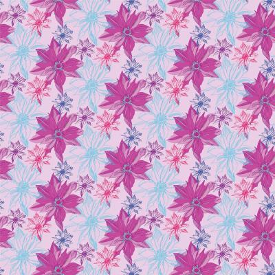 DiaNoche Designs Artist | Yasmin Dadabhoy - Shaded Flower Blue PInk
