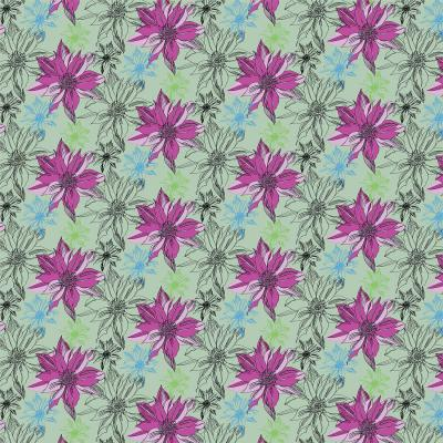 DiaNoche Designs Artist | Yasmin Dadabhoy - Shaded Flower Moss Pink