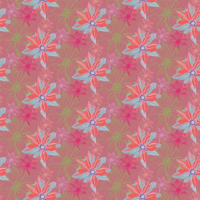 DiaNoche Designs Artist | Yasmin Dadabhoy - Shaded Flower Peach Pink