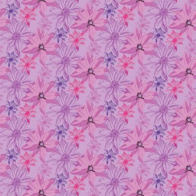 DiaNoche Designs Artist   Yasmin Dadabhoy - Shaded Flower Pink Purple