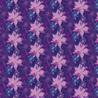 DiaNoche Designs Artist   Yasmin Dadabhoy - Shaded Flower Purple Pink