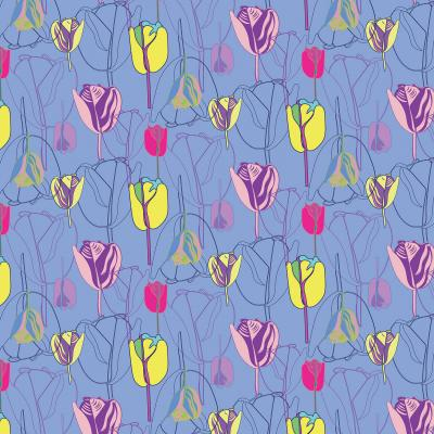 DiaNoche Designs Artist | Yasmin Dadabhoy - Tulips Periwinkle Pink