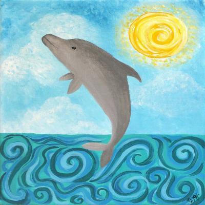 DiaNoche Designs Artist | nJoy Art - Dolphin