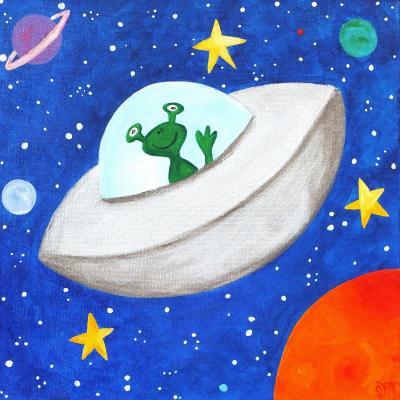 DiaNoche Designs Artist | nJoy Art - Flying Saucer