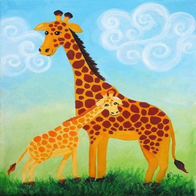 DiaNoche Designs Artist | nJoy Art - Giraffes