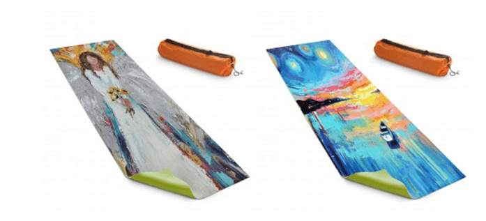 colorful artistic yoga mats