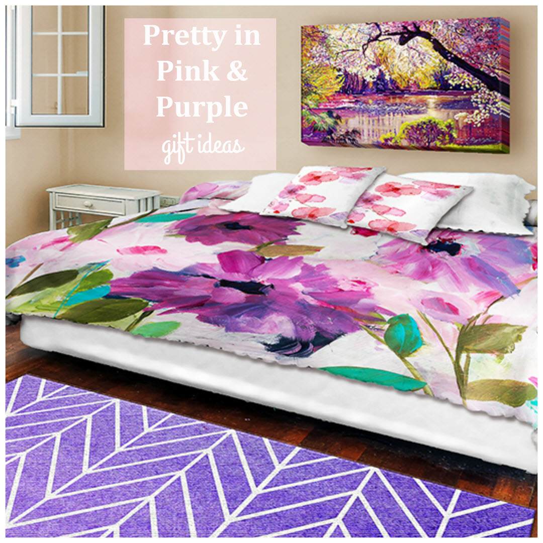Pretty in Pink and Purple Home Decor Holiday Gift Guide