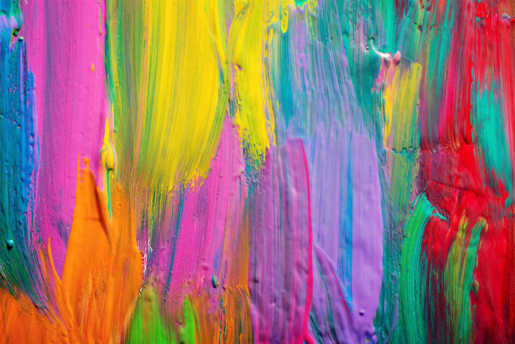colors on canvas