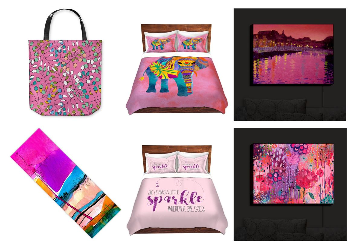 pink products from DiaNoche Designs