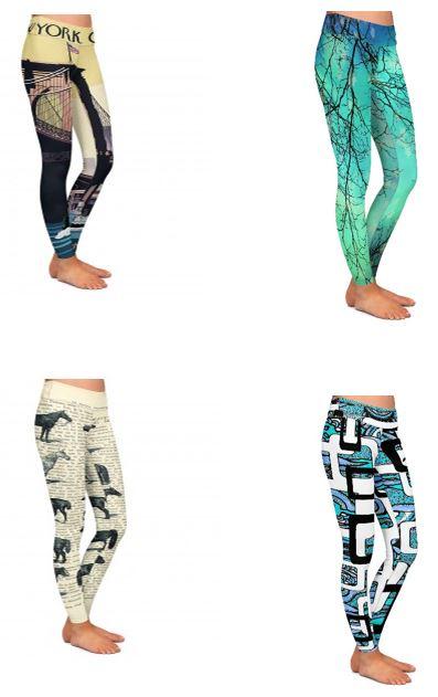 printed yoga leggings