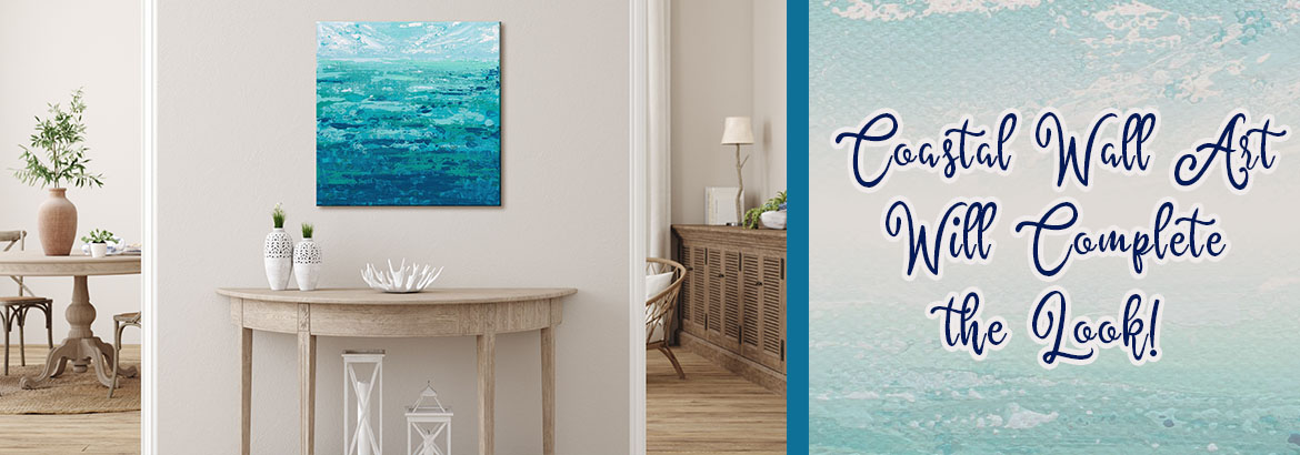 Coastal Wall Art | Canvas and Wood Wall Art | Tapestry